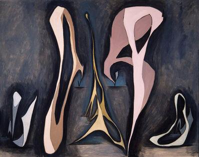 Lorser Feitelson, 'Mirabilia, Magical Forms', 1945