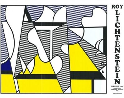 Roy Lichtenstein, ' Cow Going Abstract Tryptic', 1974