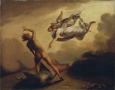 N.A. Abildgaard, 'Ærkeenglen Mikael og Satan strides om Moses' afsjælede legeme', ca. 1782