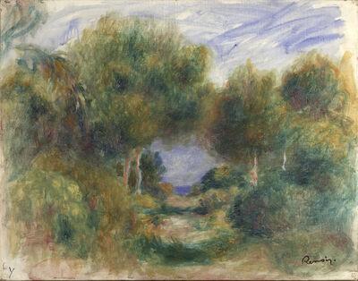 Pierre-Auguste Renoir, 'Sortie du bois, mer au fond', 1895-1898
