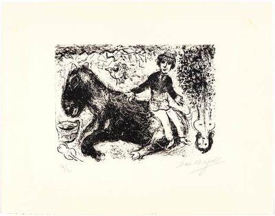 Marc Chagall, 'Le garçon au cheval', 1970