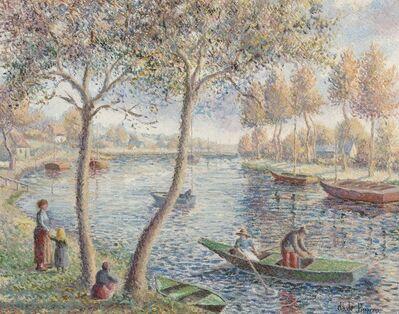 Hugues Claude Pissarro, 'Dimanche d'un bel octobre au bord de l'Orne'