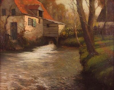 George Ames Aldrich, 'Late Afternoon Mill Stream', ca. 1910