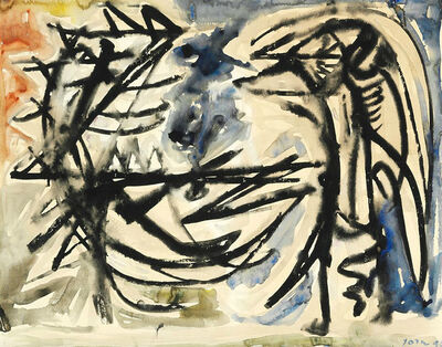 Asger Jorn, 'Two bird figures', 1949