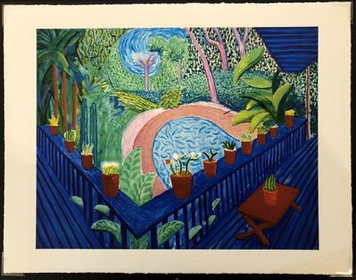 David Hockney, 'Red Pots in the Garden', 2000