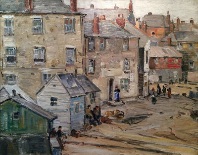 George Gardner Symons, 'Town in Brittany'