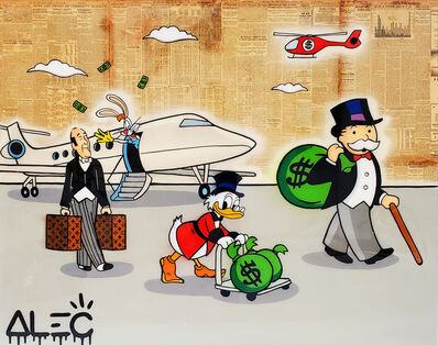 Alec Monopoly, 'Monopoly gang with jet on Runway ', 2019