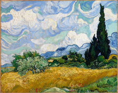 Vincent van Gogh, 'A Wheatfield, with Cypresses', 1889