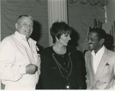 Unknown, 'Frank Sinatra with Liza Minnelli and Sammy Davis Jr. 1988 Press Print', 1988