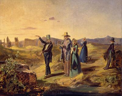 Carl Spitzweg, 'Englishmen in Campagna', ca. 1835
