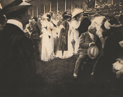 Edward Steichen, 'Steeplechase Day, Paris - The Grandstand', 1907