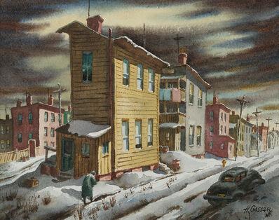 Henry Gasser, 'Winter Street', ca. 1950s-1960s