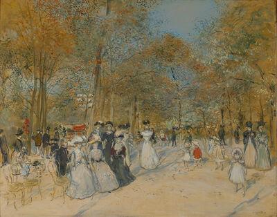 Jean François  Raffaëlli, 'Les Champs-Élysées', ca. 1890