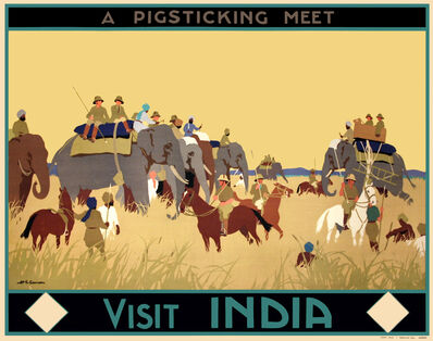Henry George Gawthorn, 'A PIGSTICKING MEET - VISIT INDIA', c.1925