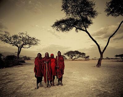 Jimmy Nelson, 'VIII450 Ladaru,Lenaitu,Lengaa&Saitoti Tarangire,RiftEscarpmentTanzania- Maasai,Tanzania', 2010