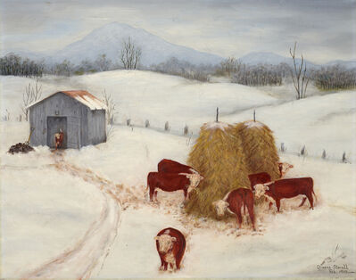 Queena Stovall, 'Herefords in the Snow', 1963