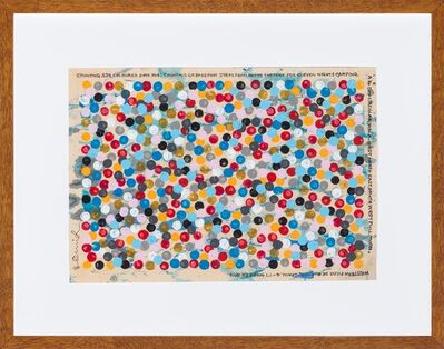 Hamish Fulton, '4. Counting 539 Coloured Dots For: Counting 49 Barefoot Steps From And To The Tent For Eleven Nights Camping A 14 Day Circular Walk West North East West Full Moon Western Picos De Europe Spain 4-17 October 2016', 2016