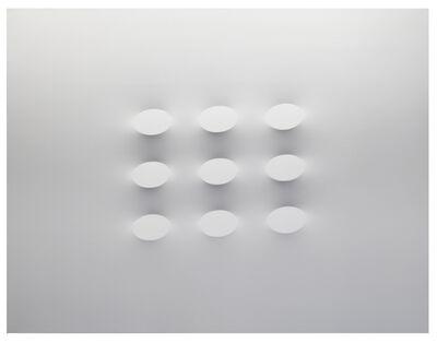 Turi Simeti, '9 ovali bianchi', 2015