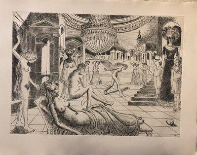 Paul Delvaux, 'Construction d'un Temple en Ruine - Plate n. 1', 1973