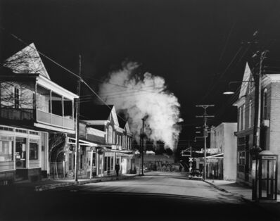O. Winston Link, 'Policeman Weldon Painter Patrols the Main Street, Stanley, Virginia', 1956