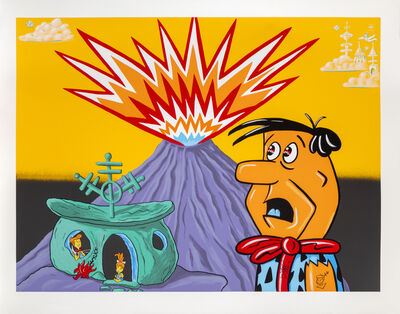 Kenny Scharf, 'Flintstones', 1998