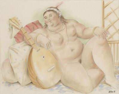 Fernando Botero, 'Odalisque', 1998