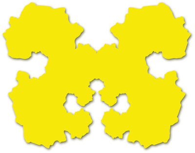 Paul Hosking, 'Rorschach Portrait (yellow)', 2010