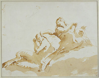 Giambattista Tiepolo, 'Woman and Satyr', ca. 1740