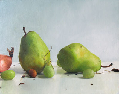 Randall W.L. Mooers, 'Two Pears with Grapes and Shallot', 2019