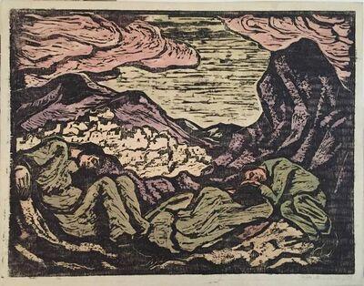 Jacob Steinhardt, 'Soldiers in an Israeli Landscape', 20th Century