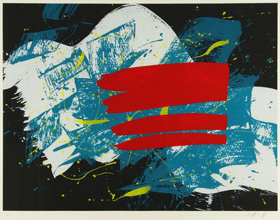 Kazuo Shiraga, 'Red Flag', 1993