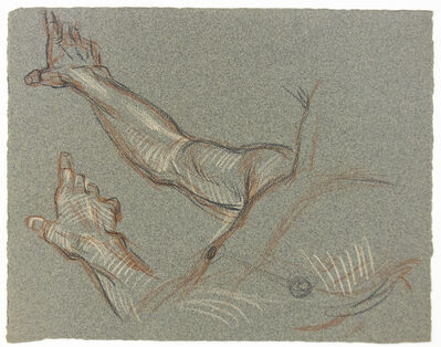 Paul Cadmus, 'Male Torso (Studies of a Hand)', 1904-1999