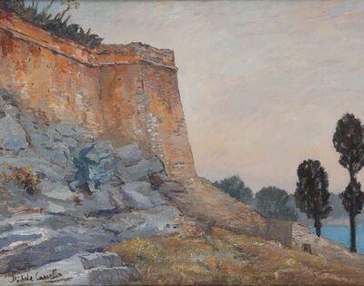 Michele Cascella, 'Mura di un castello in Liguria', 1950 ca