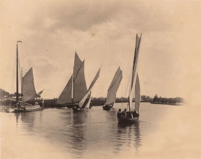 Peter Henry Emerson, 'The Harbor [A sailing match at Horning]', 1885