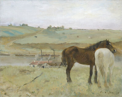 Edgar Degas, 'Horses in a Meadow', 1871