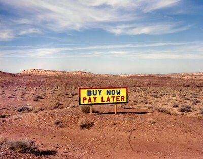 David Graham, 'Rt. 64 West of Rt. 89, Arizona (Buy Now Pay Later)', 1986