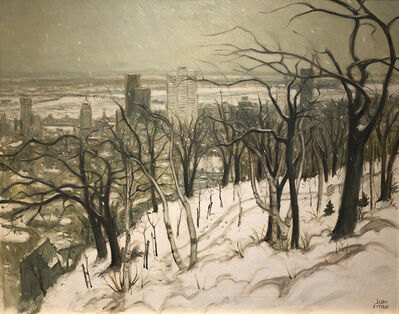 John Caruthers Little, 'Montreal from Mt. Royal', 1967