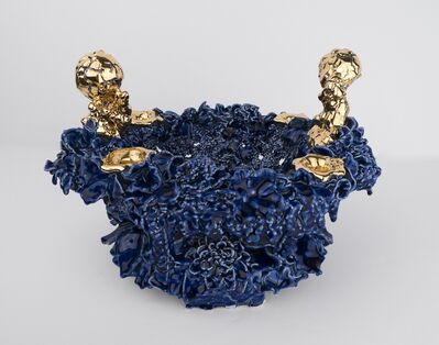 Anthony Sonnenberg, 'Fruit Bowl (Royal Blue and Gold)   ', 2019