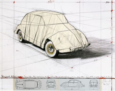 Christo, 'Wrapped Volkswagen, Project for 1961 Volkswagen Beetle Saloon', 2013