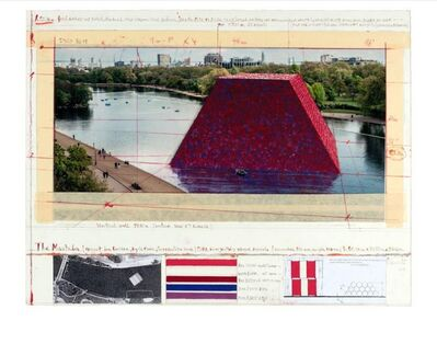 Christo, 'The Mastaba (Project for London, Hyde Park, Serpentine Lake) ', 2018