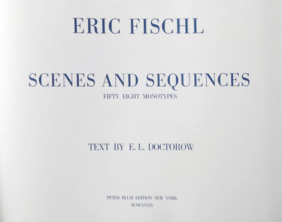 Eric Fischl, 'Scenes and Sequences with Text by E.L. Doctorow', 1989