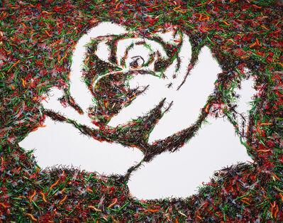 Vik Muniz, 'The White Rose (Monades Series)', 2003