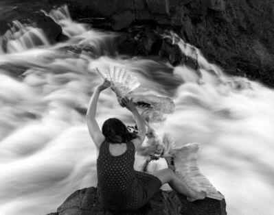 Agnieszka Sosnowska, 'Self portrait with swan, Iceland', 2013