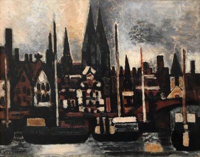 Marcel Gromaire, 'Arriere-Port Ostende', 1935
