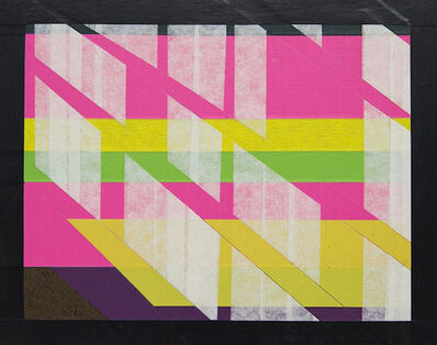 Ibrahim Abusitta, 'Untitled with Pink, Yellow and Green', 2015