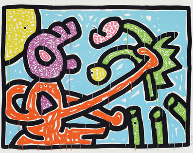 Keith Haring, 'Flowers (1)', 1990
