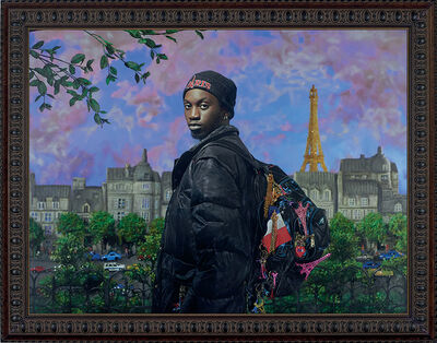 Pierre et Gilles, 'The seller of Eiffel Towers (Ibrahima Ramon Magassa)', 2019