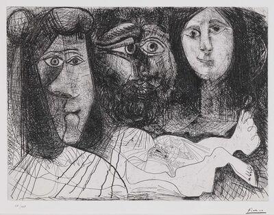 Pablo Picasso, 'La  Chute d'lcare (Autoportrait, avec deux femmes) (B. 2016)', 1972