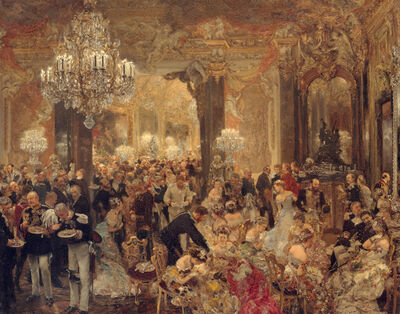 Adolph Menzel, 'The Dinner at the Ball', 1878