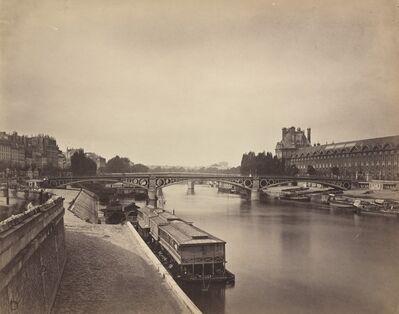 Gustave Le Gray, 'The Pont du Carrousel, Paris: View to the West from the Pont des Arts', 1856-1858